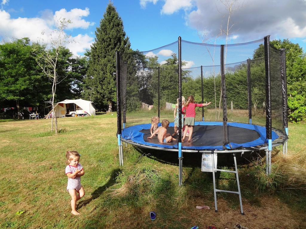 Trampoline for the kids
