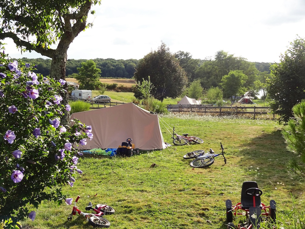 View across the camping