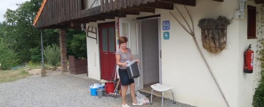 Schoon sanitaire op de camping
