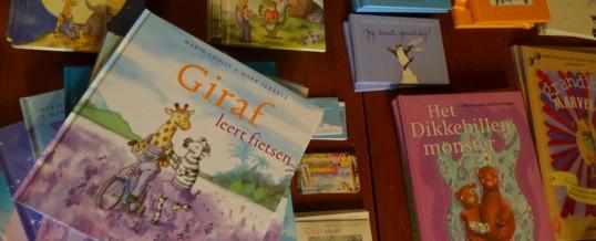 Giraf kinderboeken op de camping