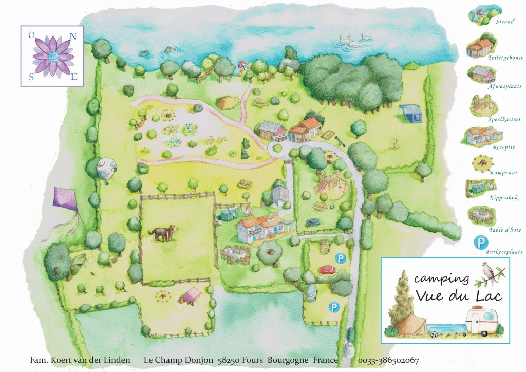 Camping Vue du Lac Terrain Map on