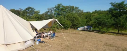 Prachtig weer op de camping