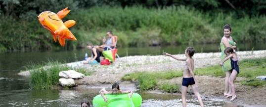 Vandaag een heerlijk zonnetje, idee om bijvoorbeeld te zwemmen in Le Bec d' Alier